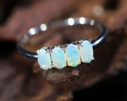 Cute Solid Crystal  Opal Rings  SU 600a