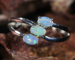Cute Solid Crystal  Opal Rings  SU1476