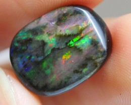 6.10 CRT WOOD OPAL COMMON BRIGHT FIRE PLAY COLOR INDONESIAN OPAL
