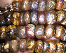 249.35CTS BOULDER OPAL DRILLED BEADS STRAND LO-4681