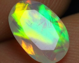0.90cts Wonderful Neon Color Faceted Natural Ethiopian Opal