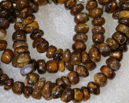 108.95CTS BOULDER OPAL DRILLED BEADS STRAND LO-4690