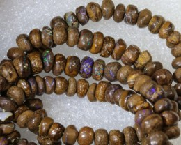 113.25CTS BOULDER OPAL DRILLED BEADS STRAND LO-4692