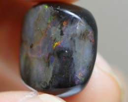 9.80 CRT WOOD OPAL BEAUTY COMMON FIRE INDONESIAN OPAL