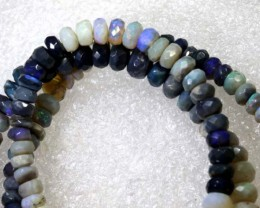 58.8CTS BLACK OPAL BEADS STRAND TBO-7957