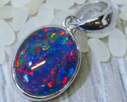 Cute Triplet Opal set in Silver Pendant  SU622
