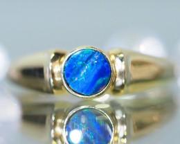 Stylish 9k Gold  Doublet Opal Ring SU632