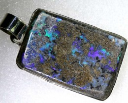 85.80CTS BOULDER OPAL STERLING SILVER PENDANT OF-2203