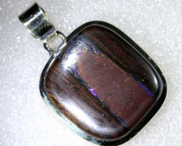 88.10CTS BOULDER OPAL STERLING SILVER PENDANT OF-2206