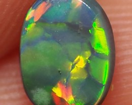 0.50CT SOLID LIGHTNING RIDGE BLACK OPAL  MI115