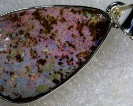 48.15CTS BOULDER OPAL STERLING SILVER PENDANT OF-2234