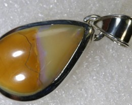 33.45CTS BOULDER OPAL STERLING SILVER PENDANT OF-2250