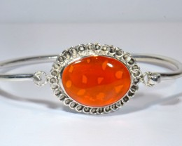 12CT MEXICAN FIRE OPAL CUFF STERLING SILVER QUALITY SILVERSMITH SOLID OPALS
