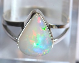 7SZ BRIGHT ETHIOPIAN WELO OPAL HIGH QUALITY .925 STERLING PENDANT