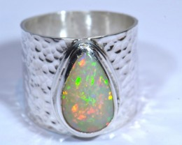 8SZ BRIGHT ETHIOPIAN WELO OPAL HIGH QUALITY .925 STERLING PENDANT