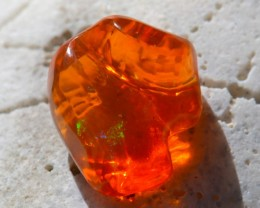 8.18CT BRIGHT CARVED MEXICAN  FIRE OPAL