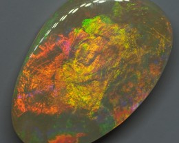 39.55CT 'THE ORANGE FLASH'LIGHTNING RIDGE CRYSTAL OPAL  MI160