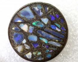 27.6CTS BOULDER OPAL INLAY POLISHED STONE TBO-7994