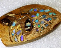 38CTS BOULDER OPAL INLAY POLISHED STONE TBO-8004