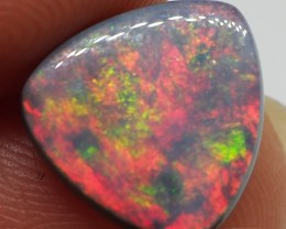 N1 DOUBLE SIDED 'MULTI FLASH' 3.10CT SOLID LIGHTNING RIDGE  BLACK OPAL  MI1