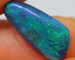 N1 2.45CT SOLID LIGHTNING RIDGE BLACK OPAL  MI203