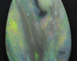 4.20CT SOLID SEMI BLACK LIGHTING RIDGE OPAL MI211
