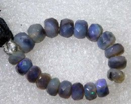 14.75CTS BLACK OPAL BEADS  DRILLED  LO-4693