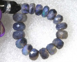 16.6CTS BLACK OPAL BEADS  DRILLED  LO-4695