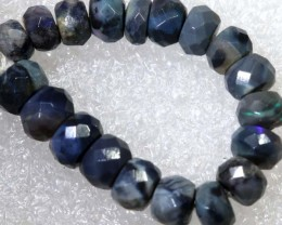 14.30CTS BLACK OPAL BEADS  DRILLED  LO-4698