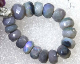 14.05CTS BLACK OPAL BEADS  DRILLED  LO-4701