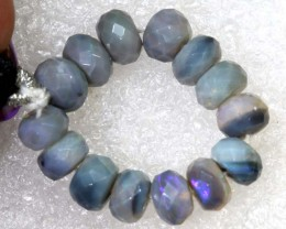 17.3CTS BLACK OPAL BEADS  DRILLED  LO-4709