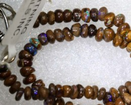 30.7CTS  BOULDER OPAL BEADS STRAND  DRILLED  LO-4721