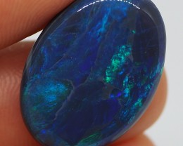 N1 10.85CT SOLID LIGHTNING RIDGE BLACK OPAL  MI271