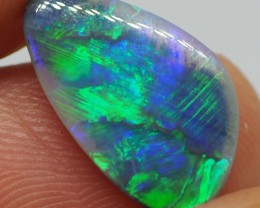 N1 3.05CT SOLID LIGHTNING RIDGE BLACK OPAL  MI316