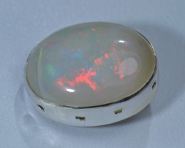 8ct BRIGHT ETHIOPIAN WELO OPAL HIGH QUALITY .925 STERLING PENDANT SPECIMEN