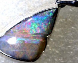25.05CTS BOULDER OPAL STERLING SILVER PENDANT OF-2291