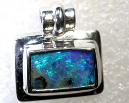 19.55CTS BOULDER OPAL STERLING SILVER PENDANT OF-2292