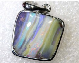 23.0CTS BOULDER OPAL STERLING SILVER PENDANT OF-2293