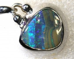 28.3CTS BOULDER OPAL STERLING SILVER PENDANT OF-2303