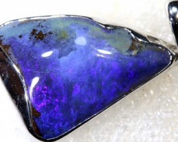 36.05CTS BOULDER OPAL STERLING SILVER PENDANT OF-2312