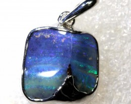 18.25CTS BOULDER OPAL STERLING SILVER PENDANT OF-2316