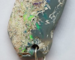 9.40CT WIRE WRAP SPECIMEN LIGHTNING RIDGE OPAL PENDANT RI627