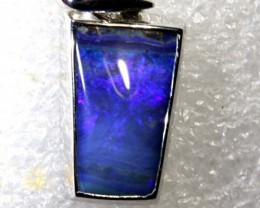 17.45CTS BOULDER OPAL STERLING SILVER PENDANT OF-2319