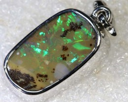 19.8CTS BOULDER OPAL STERLING SILVER PENDANT OF-2324