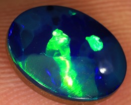 1.95ct 10x7mm Lightning Ridge Opal Doublet [PDO-105]