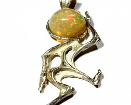 Pendant Silver  925  whit Pinfire Wello Opal   19.0   cts. CV5