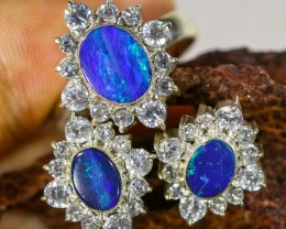 41.05 CTS OPAL SET-RING AND EARRINGS-SILVER -IDEAL GIFT. [SOJ6354]