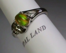 13.20 ct Stunning 925 Silver Bright Multi Color Welo Ring