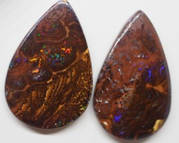 27.50CT GEM MATRIX PAIR  KORIOT OPAL  WITH AMAZING PATTERN TT110