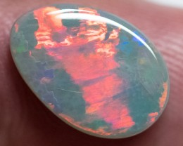 SEMI-BLACK OPAL LIGHTNING RIDGE MULTI-COLOR SOLID 3.69ct GEM SBOD1703